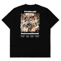 POSH BRAIN OUTERNATIONAL TEE-BLACK