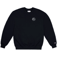 CLASSIC GRIP EMBROIDERED GLOW IN THE DARK CLASSIC GRIP CREWNECK-BLACK