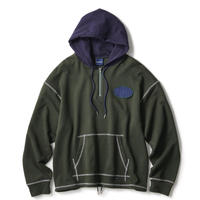 INTERBREED STICHED CLASSIC HOODIE-GREEN