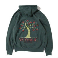 VOYAGE POMEGRANATE HOODED SWEATSHIRT-PINEGREEN