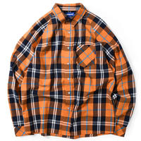 LAFAYETTE RAGLAN CHECK SHIRT-ORANGE