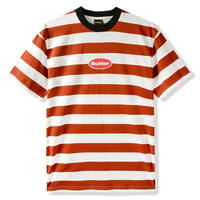 BUTTER GOODS BADGE STRIPE TEE-RUST