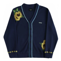 UNKNOWN SUNFLOWER CARDIGAN-NAVY