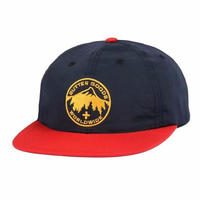 BUTTER GOODS PEAK 6 PANEL CAP   NAVY / RED