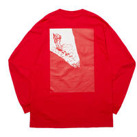 WHIMSY GEZAN TOZAN L/S TEE-RED