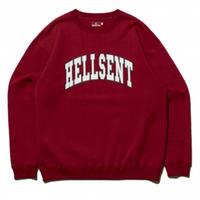 HELLRAZOR HELLSENT CREW SWEAT-BURGUNDY