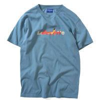 LAFAYETTE X KILLIMAN JAH LOW WORKS POWER LOGO TEE-SLATE BLUE