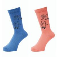 WHIMSY 32/1 FLANDERS SOCKS R,BLUE, S,PINK