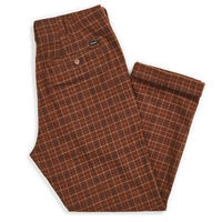 BRIXTON REGENT TROUSER PANT-BROWN PLAID