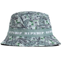 RIPNDIP MONEY BAG BUCKET HAT-GREEN/GRAY