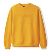 BUTTER GOODS PIGMENT DYE CREWNECK SWEATSHIRT- YELLOW