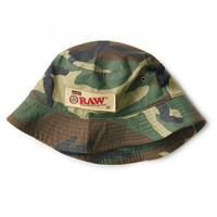 RAW × INTERBREED ROLLERS BUCKET HAT -CAMO