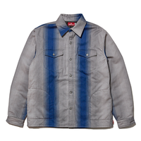 HELLRAZOR STRIPE FLANNEL SHIRT JACKET-BLUE