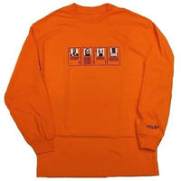 HOTEL BLUE MUGSHOT L/S TEE   ORANGE