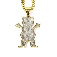 GRIZZLY X GOLD GODS ICED OG BEAR CHAIN