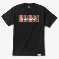 DIAMOND COLOR PLY BOXLOGO S/S TEE-BLACK