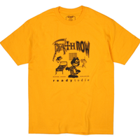 BUTTER GOODS  DEATH ROW TEE      GOLD