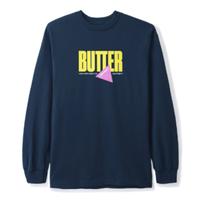 BUTTER GOODS GEAR L/S TEE-NAVY