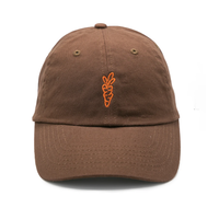 CARROTS SIGNATURE CARROT DAD HAT-BROWN