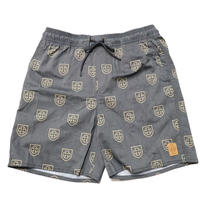 BRIXTON X INDEPENDENT PAROLE TRUNK-BLACK/YELLOW