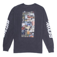 FUCKING AWESOME COLLAGE L/S TEE-PIGMET DYEDPEPPER