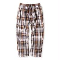 INTERBREED PATTERNED PAJAMA PANTS-BROWN PLAID