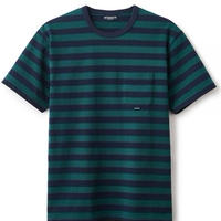 【INTERBREED】BASIC BORDER SS TEE(GREEN/NAVY)