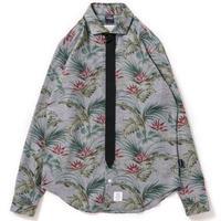 【APPLEBUM】Chambray Flower Necktie-Gimmick Shirt