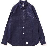 【APPLEBUM】Botanical Emboss Shirt [Navy]