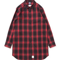 【APPLEBUM】Black Red Check Long Nel Shirt