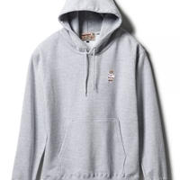 【INTEBREED】P WING BEAR EMBROIDERED HOODIE(HEATHER GREY)