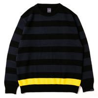 【APPLEBUM】Border Crew Sweater [Navy/Black]