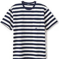 【INTERBREED】BASIC BORDER SS TEE(NAVY/WHITE)