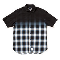 【APPLEBUM】Black Dye Ombre Check Shirt