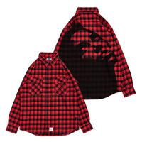 【APPLEBUM】Print Check Nel Shirt [Red]