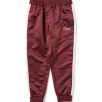 【APPLEBUM】Satin Track Pants [Burgundy]