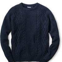 【INTERBREED】HIDING LOGO KNIT(NAVY)
