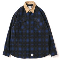 【APPLEBUM】Ombre Check Nel Shirt [Blue]