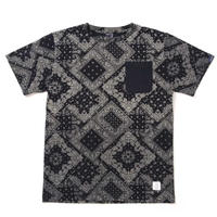 【APPLEBUM】Indigo Paisley Pocket T-shirt