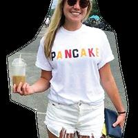 """PANCAKE""ロゴTシャツ            created by Katie Kimmel"