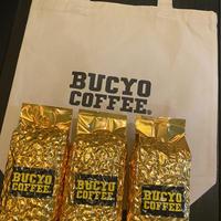 トートバック ナチュラル コーヒー豆200g  3個セット