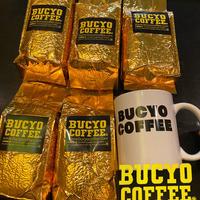 コーヒー 粉 1 kg  200g5個 マグカップイエローセット