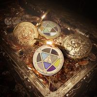 SUSISUラッキーコイン女神9色のゴールドコインアイシャドウ