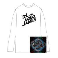 D.L a.k.a. BOBO JAMES 『GAMBLER'S THEME / FUNK BOMB 2011』7inch Vinyl  + D.L _ ロングTシャツ( 白/黒 )