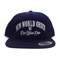 "SNAPBACK CAP ""NEW WORLD ORDER"" (NAVY×WHT)"
