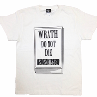 """Book/WRATH"" tee (WHT)"