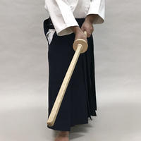 白樫 鍔付き木剣 Bokken with tsuba (White oak)