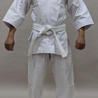 拳王印 空手着 セット(上・下・帯) Karate-Gi SET(Jacket・Pants・Obi)#11晒帆布 White Canvas SIZE1