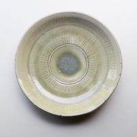 井上 茂 青瓷印花皿6寸