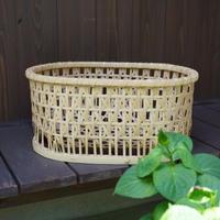 髙見八州洋 竹の収納かご
